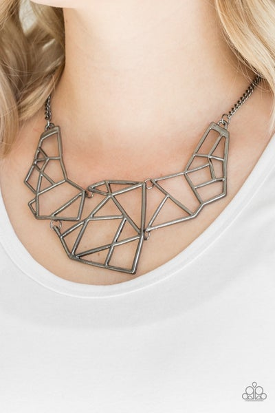 World Shattering - Gunmetal Necklace