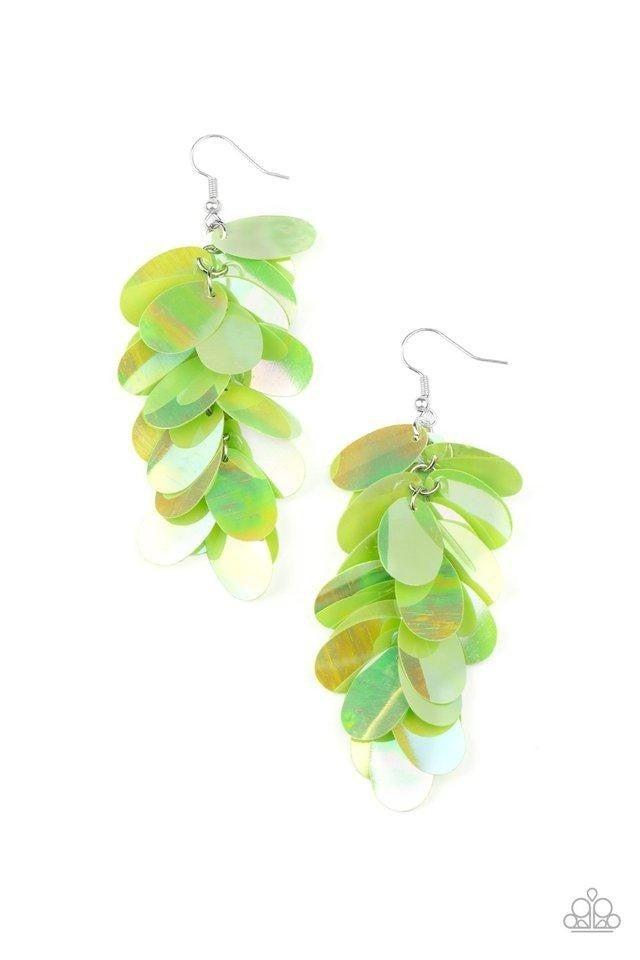 Stellar In Sequins - Green Earrings