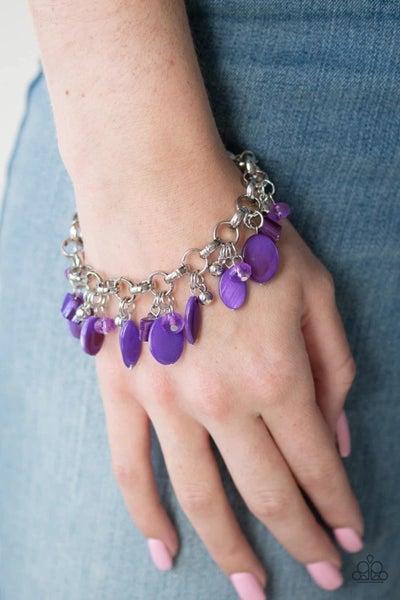 Seashore Sailing - Purple Clasp Bracelet