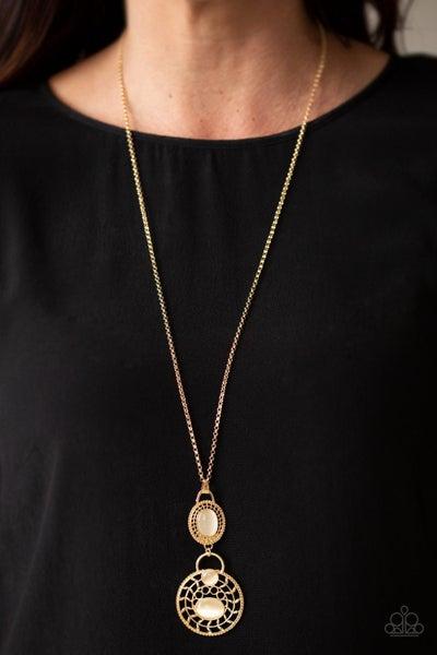 Hook, VINE, and Sinker - Gold Necklace