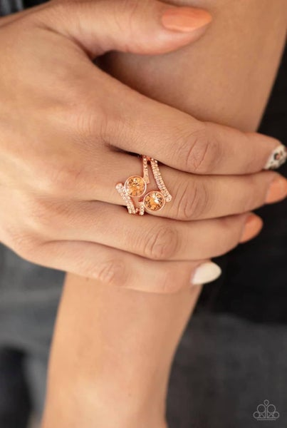 Over The Top Glamour - Copper Ring
