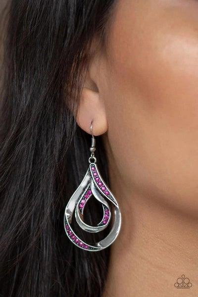 Flavor Of The Fleek - Pink Earrings