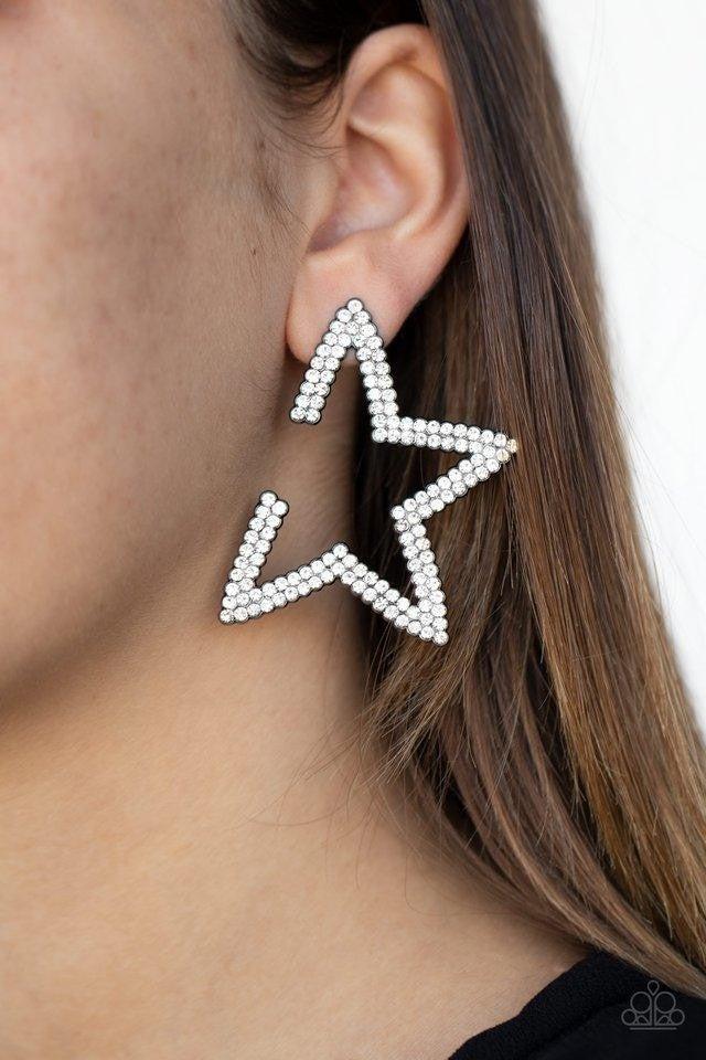 Star Player - Gunmetal Earrings