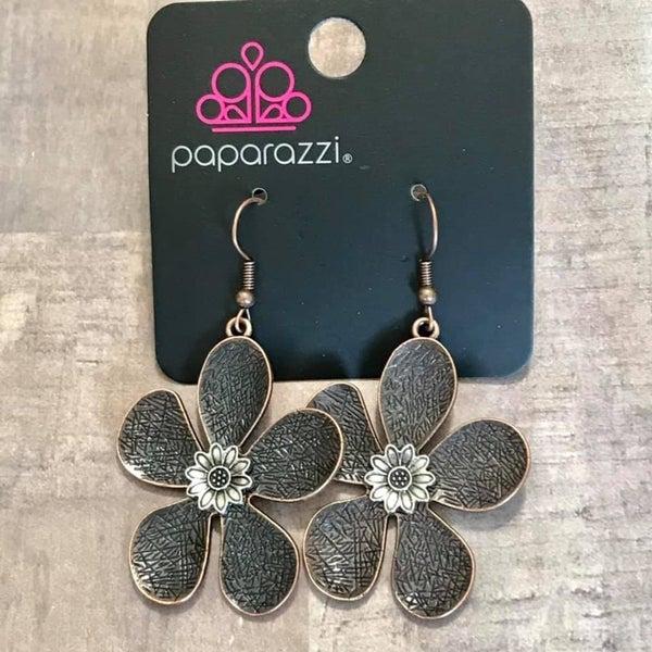 Fresh Florals - Copper Earrings