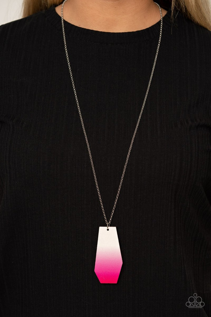 Watercolor Skies - Pink Necklace