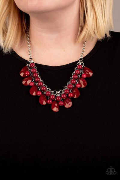 Endless Effervescence - Red Necklace