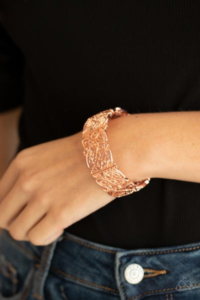 Namaste Gardens - Copper Stretchy Bracelet