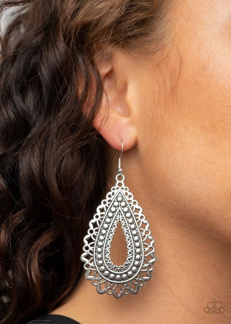 Texture Garden - Silver Earrings