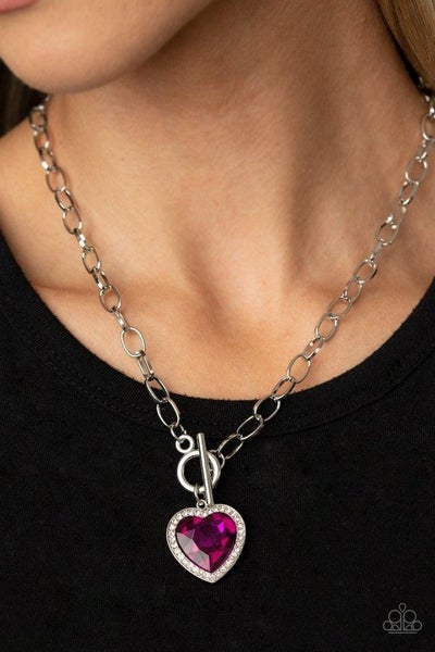 Check Your Heart Rate - Pink Necklace