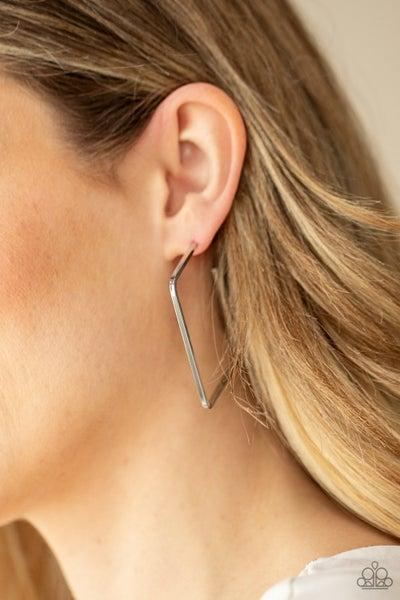 Material Girl Magic - Silver Hoop Earrings
