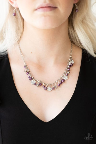 Coastal Cache - Purple Necklace