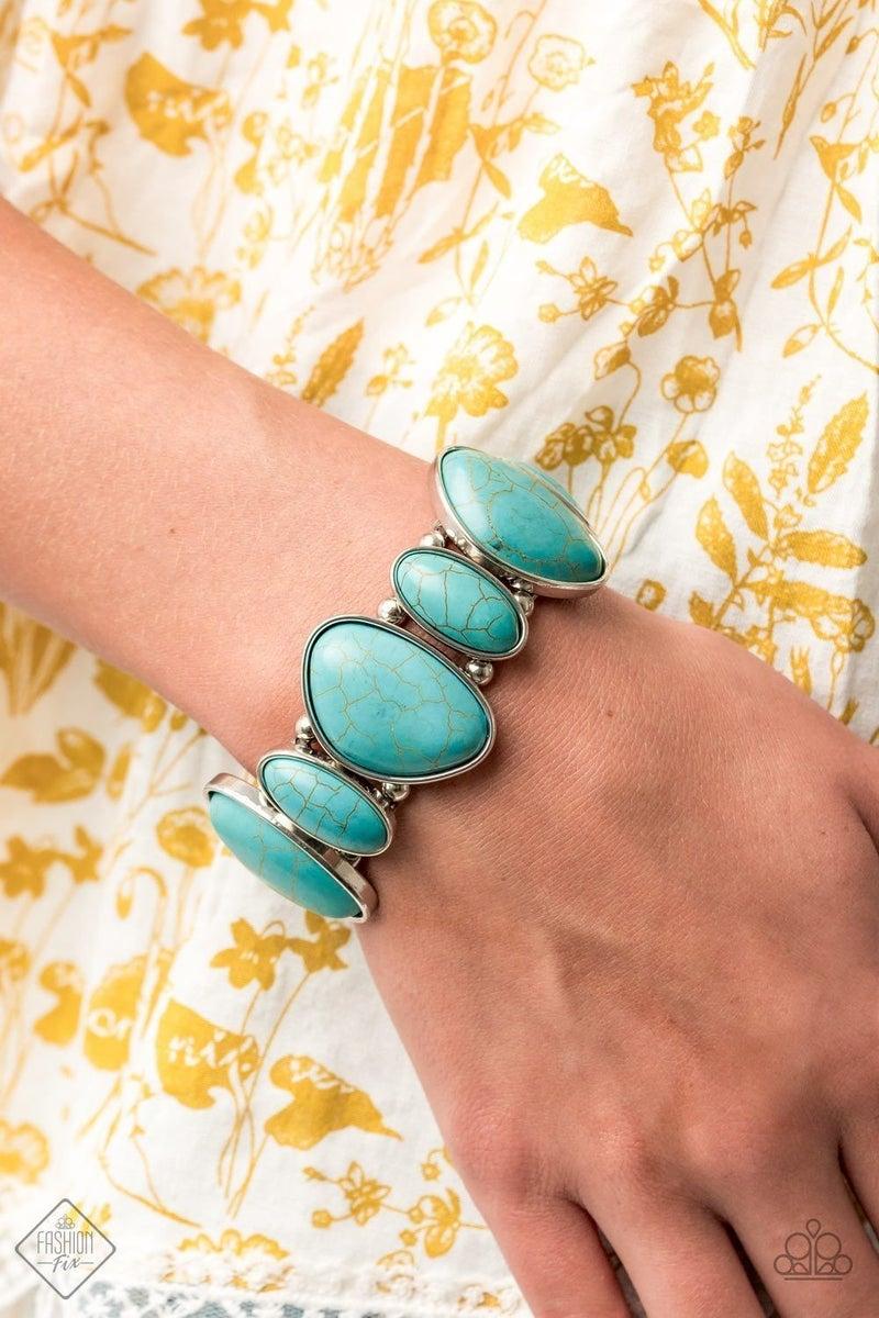 Feel At HOMESTEAD - Blue Stretchy Bracelet