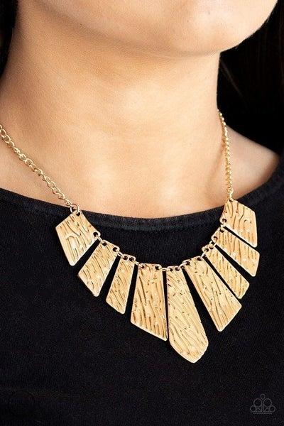 Texture Tigress - Gold Necklace