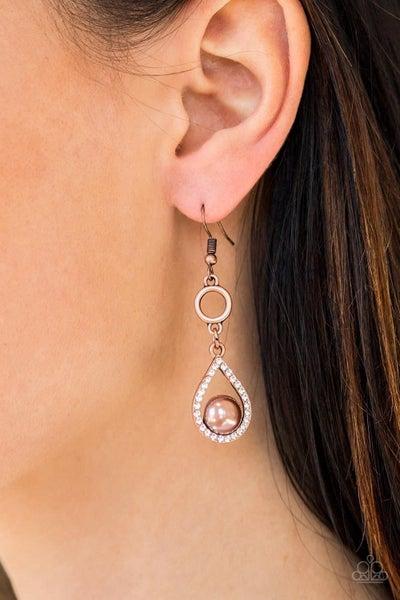 Roll Out The Ritz - Copper Earrings