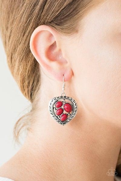 Wild Heart Wonder - Red Earrings