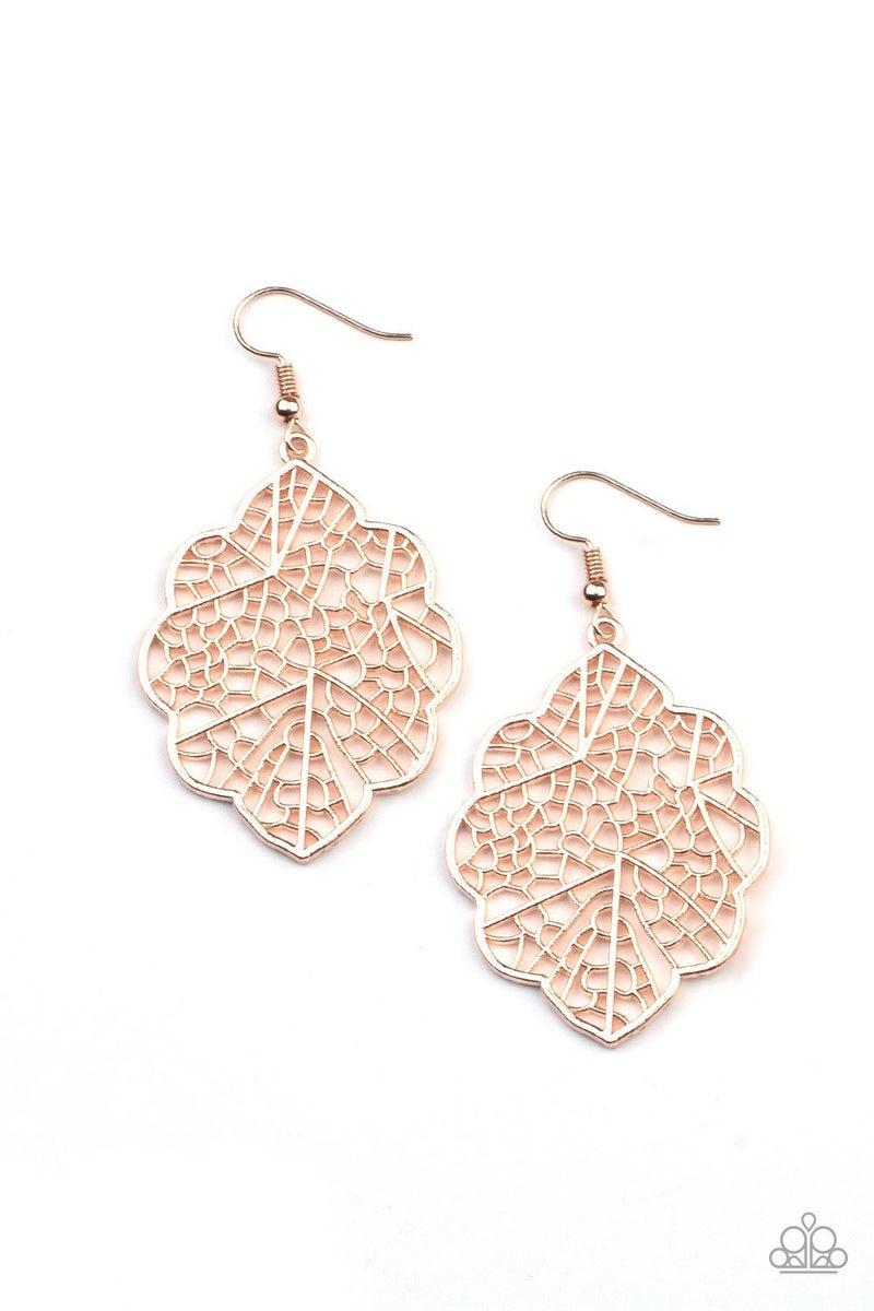 Meadow Mosaic - Rose Gold Earrings