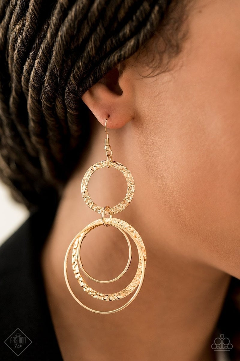 Eclipsed Edge - Gold Earrings