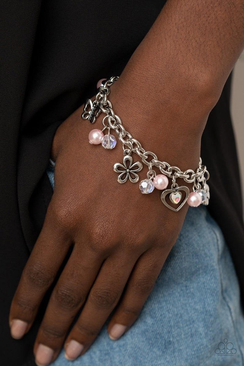 Retreat into Romance - Pink Clasp Bracelet