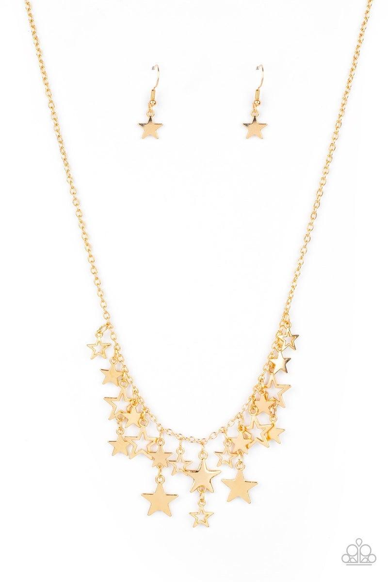 Stellar Stardom - Gold Necklace
