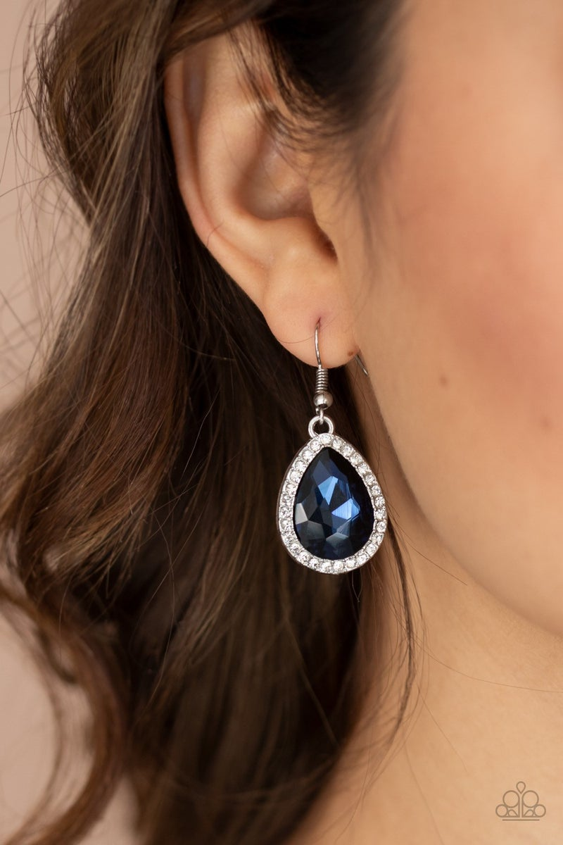 Dripping With Drama - Blue Earrings