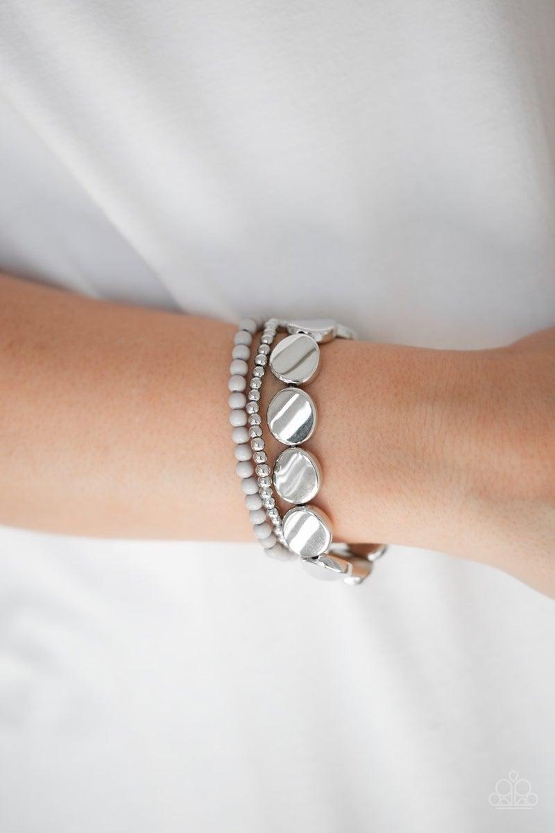Beyond The Basics - Silver Stretchy Bracelet