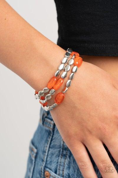 Sorry to Burst Your BAUBLE - Orange Stretchy Bracelet