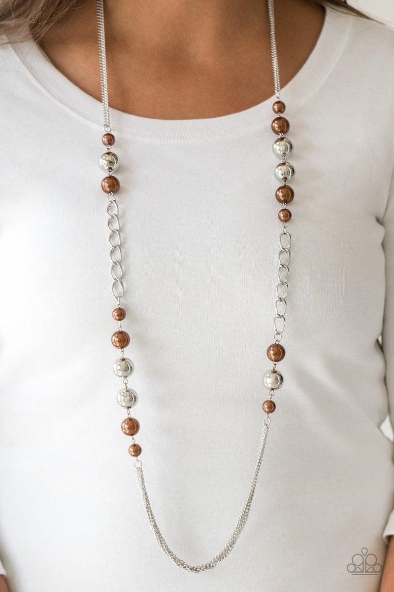 Uptown Talker - Brown Necklace