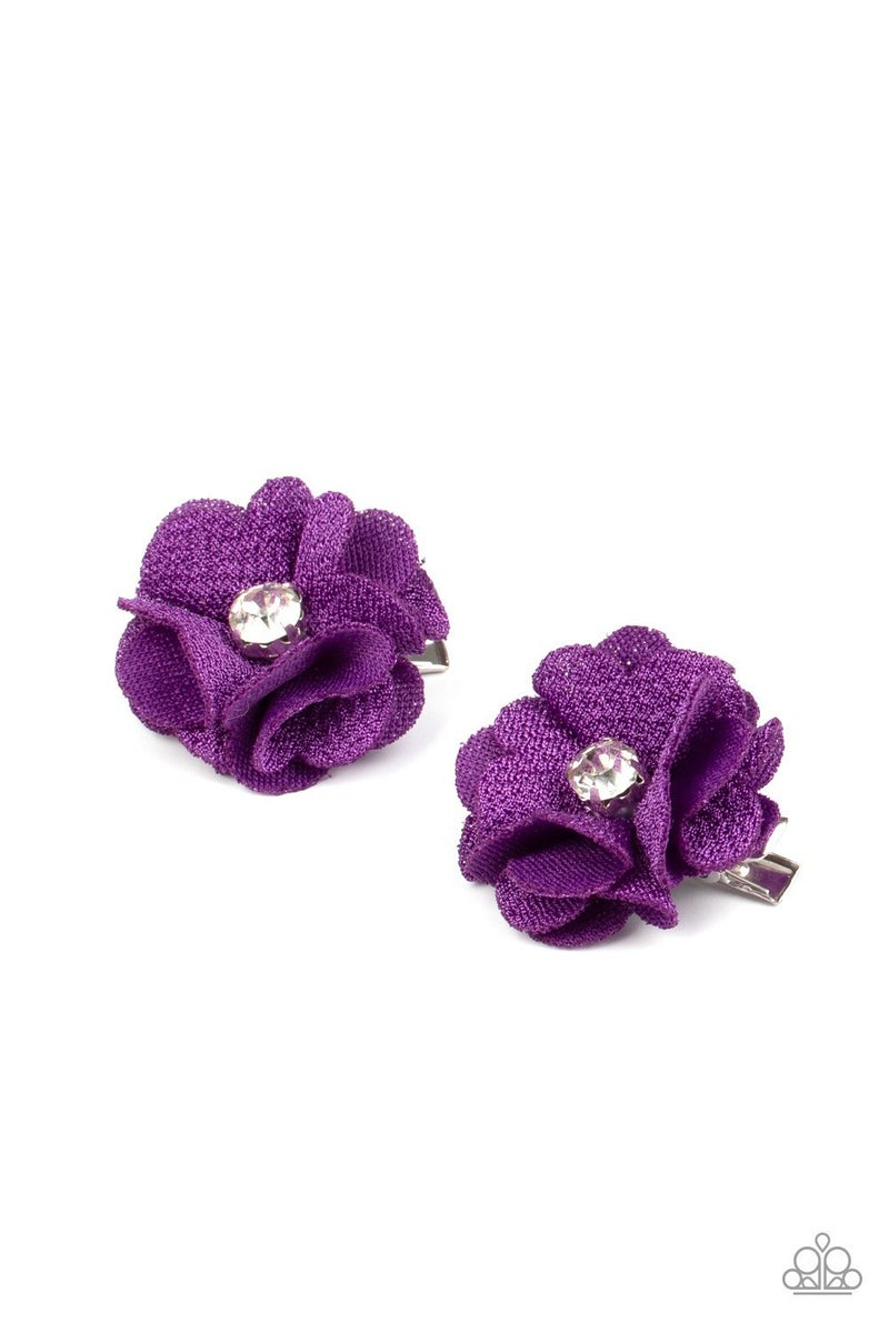 Watch Me Bloom - Purple Hair Clips