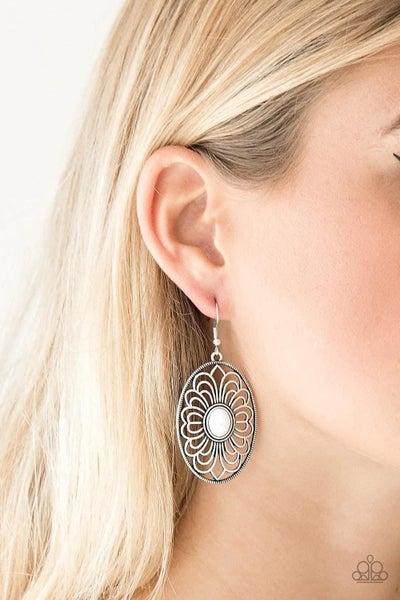 Really Whimsy - White Earrings