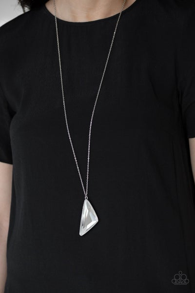 Ultra Sharp - White Necklace