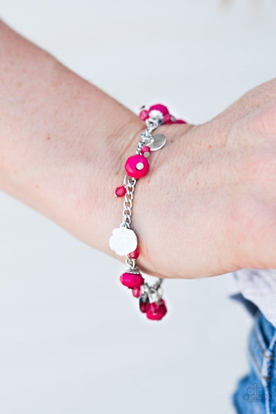 Spoken For - Pink Clasp Bracelet