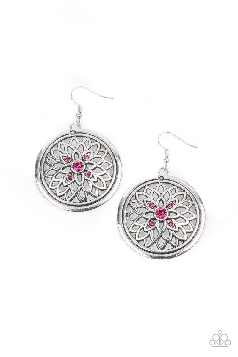 Mega Medallions - Pink Earrings