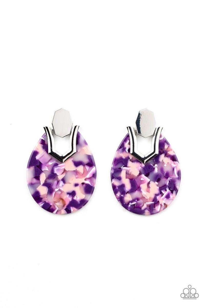HAUTE Flash - Purple Earrings