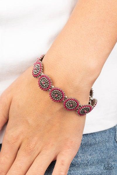 Bohemian Flowerbed - Pink Stretchy Bracelets