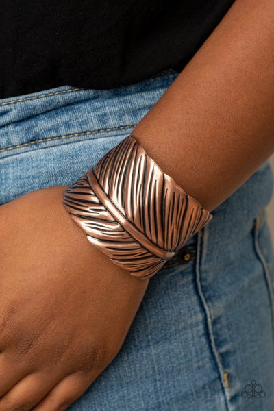 Where Theres a QUILL, Theres a Way - Copper Cuff