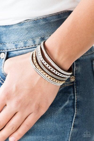 Fashion Fiend - Brown Snap Wrap