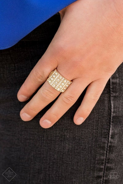 Diamond Drama - Gold Ring