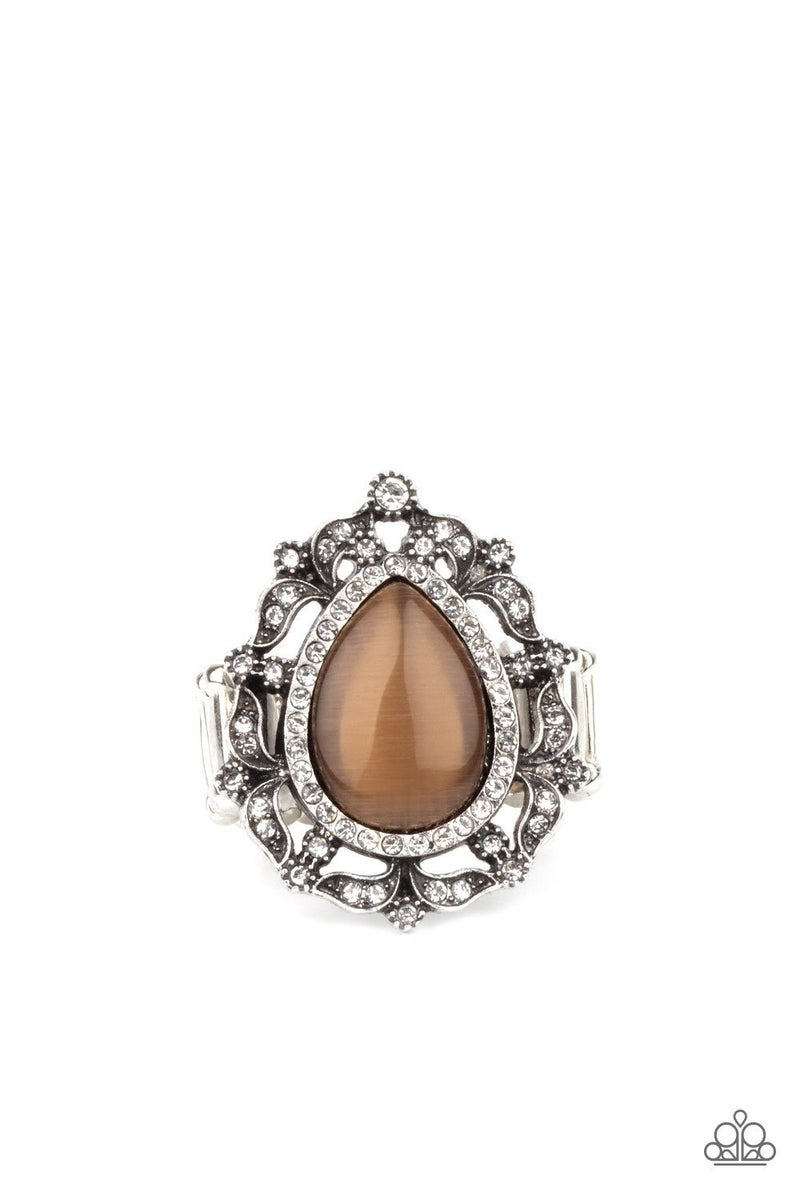 Iridescently Icy - Brown Ring