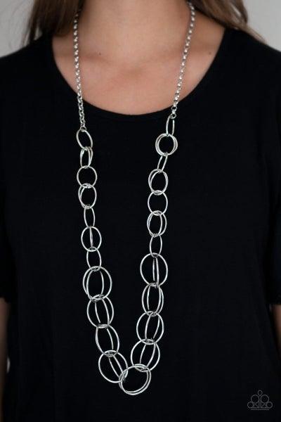 Elegantly Ensnared - Silver Necklace