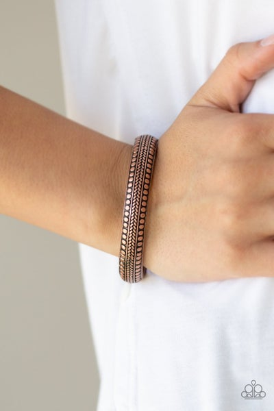 Zimbabwe Zen - Copper Hinged Bracelet