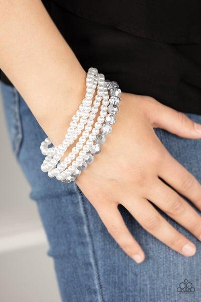 Refined Renegade - White Stretchy Bracelet