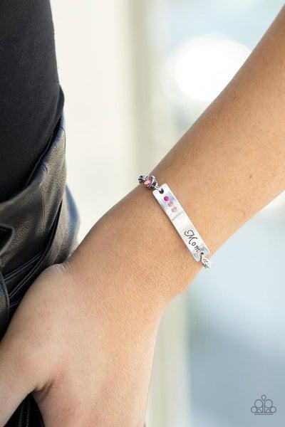 Mom Always Knows - Pink Clasp Bracelet