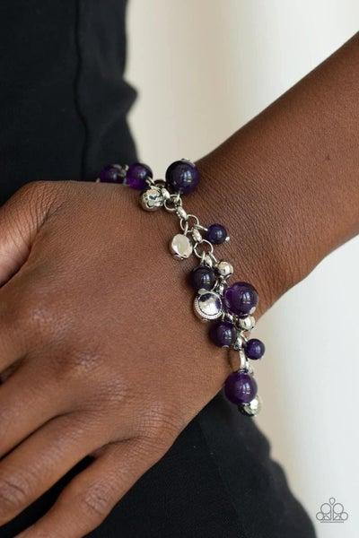 Glossy Glow - Purple Clasp Bracelet