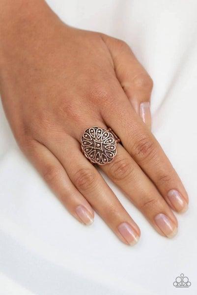 Modern Mandala - Copper Ring