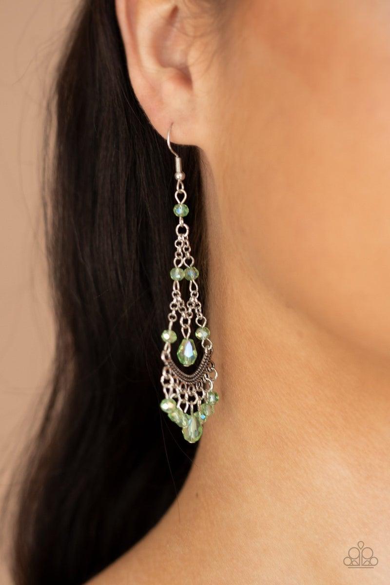First In SHINE - Green Earrings