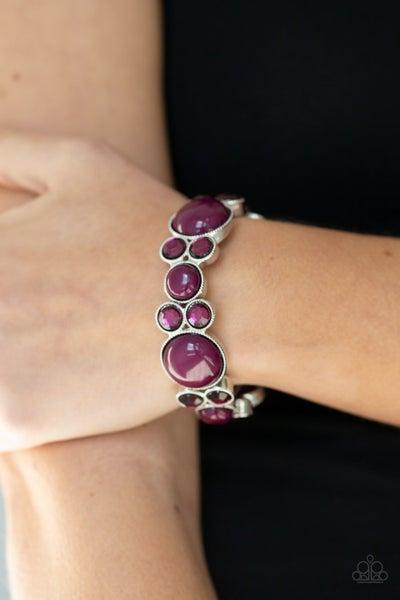 Celestial Escape - Purple Stretchy Bracelet