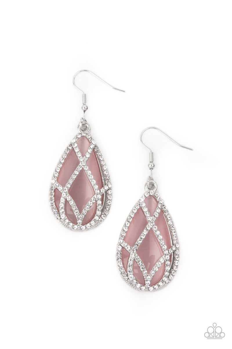 Crawling With Couture - Pink Earrings