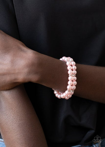 Downtown Debut - Pink Stretchy Bracelet