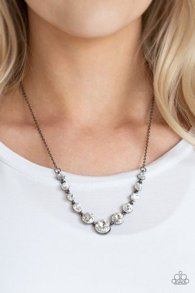 Leading Socialite - Gunmetal Necklace