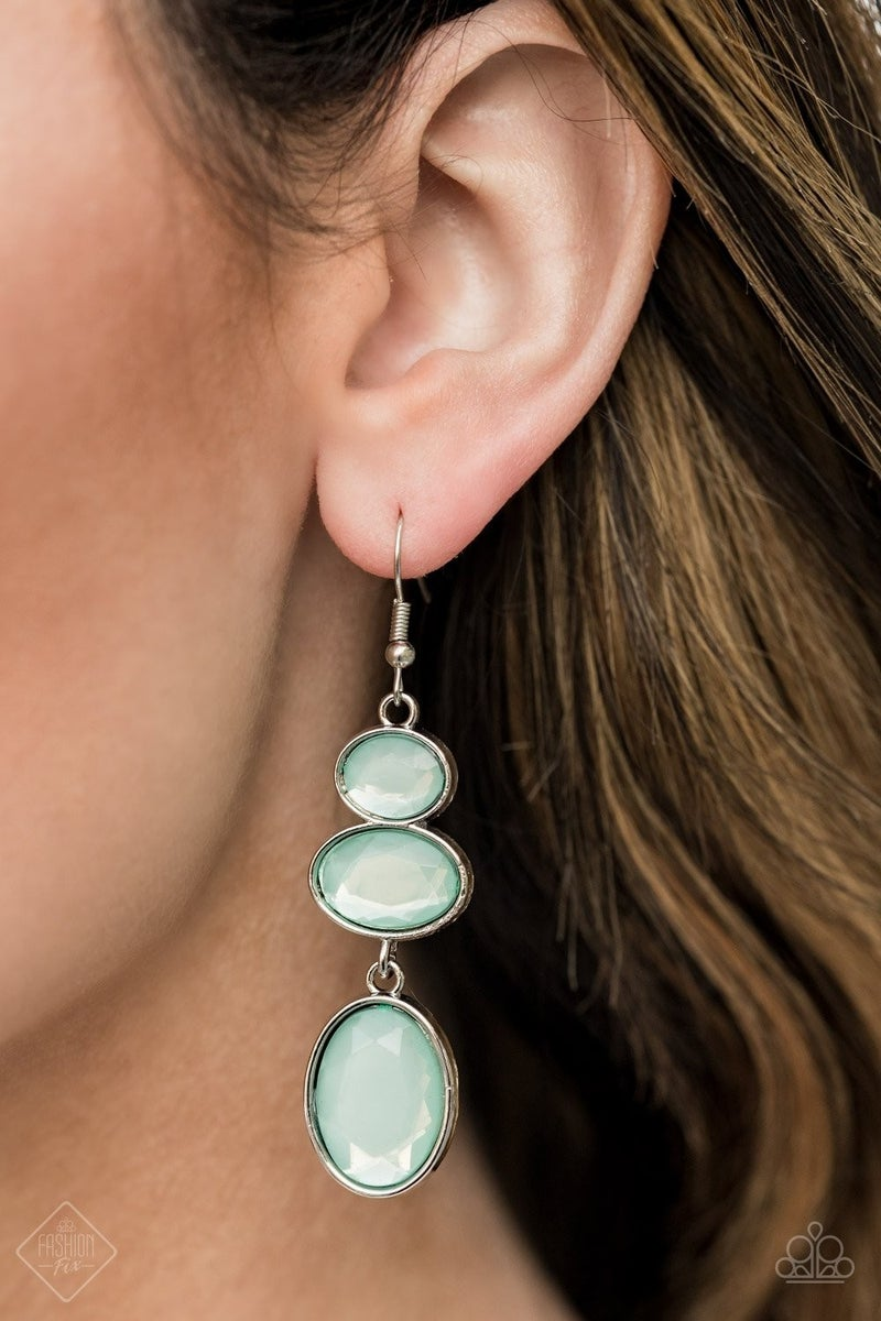 Tiers Of Tranquility - Blue Earrings - May 2021 Fashion Fix